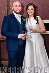 Aeílín Ní Mhórain, from Ventry, and Liam Lynch, from Ballina, County Mayo, who were married at St. Mary's Church in Dingle on Saturday. The ceremony was celebrated by fr. Joe Begley and fr. Kevin Moran. The reception was held at the Skellig Hotel in Dingle.