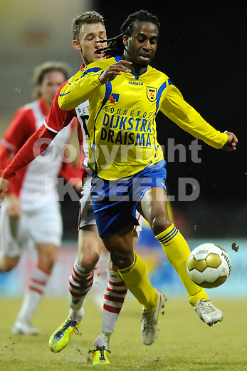 EMMEN - Voetbal, FC Emmen - SC Cambuur, Jupiler League, Unive stadion, seizoen 2011-2012, 24-02-2012 SC Cambuur speler Charles Dissels.