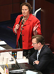 Nevada Sen. Sheila Leslie, D-Reno, speaks on the Senate floor Friday, May 27, 2011, at the Legislature in Carson City, Nev. Sen. Ben Kieckhefer, R-Reno, is at right..Photo by Cathleen Allison
