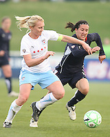 Lisa De Vanna (17) of the Washington Freedom goes for the ball against Frida Ostberg (18) of the Chicago Red Stars during a WPS match at Maryland Soccerplex on April 11 2009, in Boyd's, Maryland.  The game ended in a 1-1 tie.