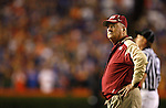 Florida State head coach Bobby Bowden watches the clock on the sidelines  of the annual Florida-Florida State football game in Gainesville, Florida November 24, 2007.   (Mark Wallheiser/TallahasseeStock.com)