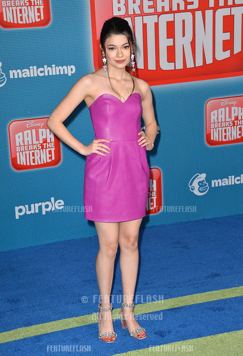 LOS ANGELES, CA. November 05, 2018: Nikki Hahn at the world premiere of &quot;Ralph Breaks The Internet&quot; at the El Capitan Theatre.<br /> Picture: Paul Smith/Featureflash