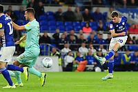 Gavin Whyte of Cardiff City in action during the Sky Bet Championship match between Cardiff City and Queens Park Rangers at the Cardiff City Stadium in Cardiff, Wales, UK. Wednesday 02 October, 2019