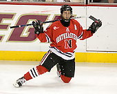 Joe Vitale (Northeastern - 26) - The Boston College Eagles defeated the visiting Northeastern University Huskies 7-1 on Friday, March 9, 2007, to win their Hockey East quarterfinals matchup in two games at Conte Forum in Chestnut Hill, Massachusetts.