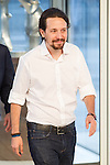 Pablo Iglesias, leader of Unido Podemos, before the four political debate between, the leaders of Ciudadanos, Unidos Podemos, Partido Socialista and Partido Popular, before the elections of july 26 Jun 13,2016. (ALTERPHOTOS/Rodrigo Jimenez)