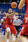 Seattle Redhawks guard D'Vonne Pickett (5) in action during the game between the Seattle Redhawks and the Texas Arlington Mavericks at the College Park Center arena in Arlington, Texas. Seattle defeats Arlington 61 to 44....