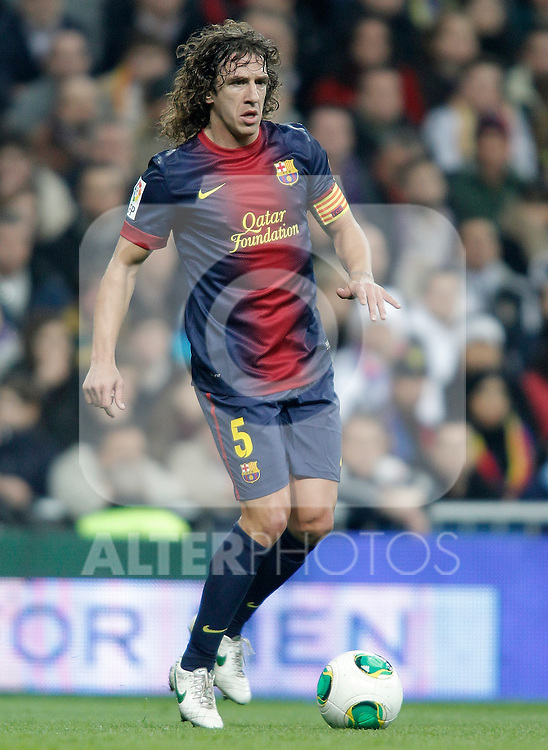 Barcelona's Carles Puyol during Kin's Cup match. January 30, 2013. (ALTERPHOTOS/Alvaro Hernandez)