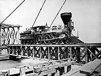 """U.S. Military Railroad engine """"W.H. Whiton.""""  Mathew Brady Collection  (Army)<br /> Exact Date Shot Unknown<br /> NARA FILE #:  111-B-801<br /> WAR & CONFLICT BOOK #:  208"""