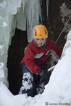Family ice climbing adventure
