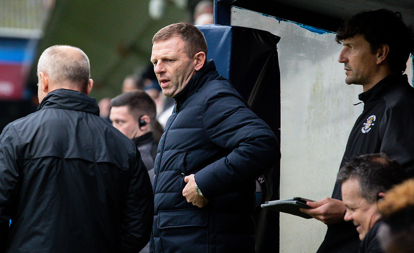 Luton Town manager Graeme Jones<br /> <br /> Photographer Alex Dodd/CameraSport<br /> <br /> The EFL Sky Bet Championship - 191123 Luton Town v Leeds United - Saturday 23rd November 2019 - Kenilworth Road - Luton<br /> <br /> World Copyright © 2019 CameraSport. All rights reserved. 43 Linden Ave. Countesthorpe. Leicester. England. LE8 5PG - Tel: +44 (0) 116 277 4147 - admin@camerasport.com - www.camerasport.com