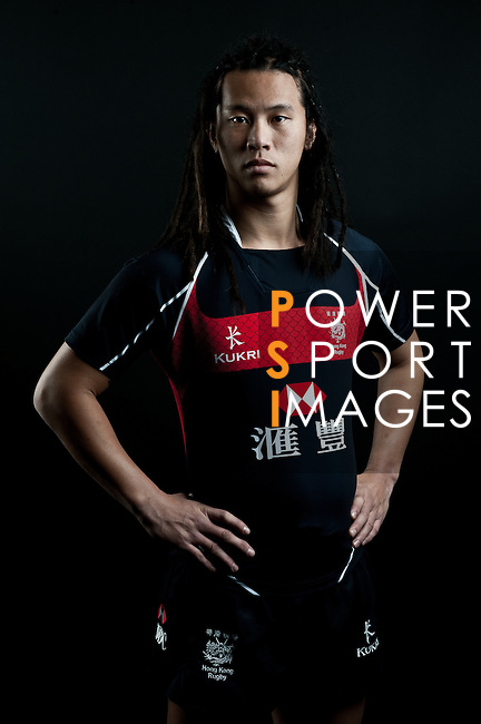 Fan Shun Kei poses during the Hong Kong 7's Squads Portraits on 5 March 2012 at the King's Park Sport Ground in Hong Kong. Photo by Andy Jones / The Power of Sport Images for HKRFU