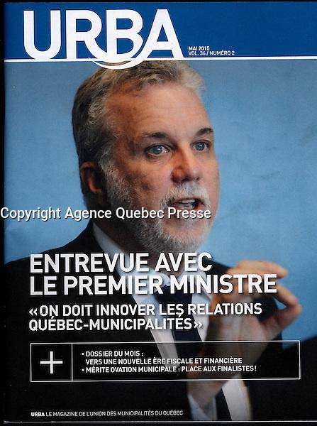 Publication  en couverture d'URBA (UMQ)<br /> <br /> <br /> Photo : Pierre Roussel