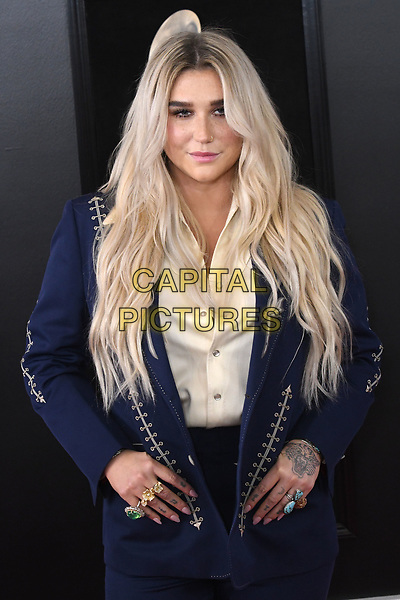 NEW YORK, NY - JANUARY 28: Kesha at the 60th Annual GRAMMY Awards at Madison Square Garden on January 28, 2018 in New York City. <br /> CAP/MPI/JP<br /> &copy;JP/MPI/Capital Pictures