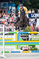 BRA-Yuri Mansur Guerios (AMOR) FINAL-6TH: RABOBANK CHAMPIONSHIP OF ROTTERDAM (Table A with Jump-Off) 155cm: 2014 NED-CHIO Rotterdam (Saturday 21 June) CREDIT: Libby Law COPYRIGHT: LIBBY LAW PHOTOGRAPHY - NZL