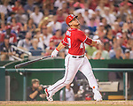 23 July 2016: Washington Nationals catcher Wilson Ramos in action against the San Diego Padres at Nationals Park in Washington, DC. The Nationals defeated the Padres 3-2 to tie their series at one game apiece. Mandatory Credit: Ed Wolfstein Photo *** RAW (NEF) Image File Available ***