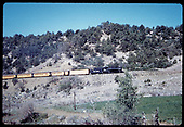 &quot;276-9 Rail fan special following the route of the Old &quot;San Juan&quot; five miles east of Durango&quot;<br /> D&amp;RGW  e. of Durango, CO  Taken by Owen, Mac - 6/1975