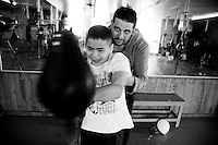 Ulises Molina portraits of  APAC patients in the famous Nueva Jordan Boxing Gym, Mexico City, Mexico