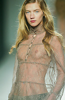 A model presents a creation by Angel Schlesser during the Pasarela Cibeles fashion show 2005, February 15, 2005 in Madrid. Photo by Victor Fraile / studioEAST