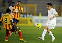 """Christian OBODO Lecce, Cristian LEDESMA Lazio.Lecce 10/12/2011 Stadio """"Via del MAre"""".Football Calcio Serie A 2011/2012.Lecce Vs Lazio.Foto Insidefoto ."""
