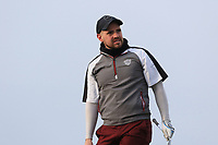 Declan Reidy (Co. Sligo) on the 4th tee during Round 3 of The West of Ireland Open Championship in Co. Sligo Golf Club, Rosses Point, Sligo on Saturday 6th April 2019.<br /> Picture:  Thos Caffrey / www.golffile.ie
