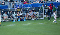 CARSON, CA - FEBRUARY 1: Gregg Berhalter and the USMNT bench during a game between Costa Rica and USMNT at Dignity Health Sports Park on February 1, 2020 in Carson, California.