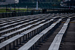 September 3, 2020:  Empty bleachers on Thurby at Churchill Downs in Louisville, Kentucky, on September 03, 2020. Evers/Eclipse Sportswire/CSM