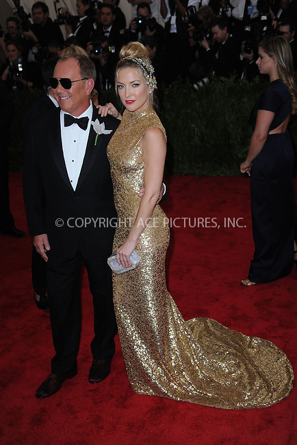 WWW.ACEPIXS.COM<br /> May 4, 2015...New York City<br /> <br /> Michael Kors and Kate Hudson attending the Costume Institute Benefit Gala  celebrating the opening of China: Through the Looking Glass at The Metropolitan Museum of Art on May 4, 2015 in New York City.<br /> <br /> Please byline: Kristin Callahan<br /> ACEPIXS.COM<br /> Tel# 646 769 0430<br /> e-mail: info@acepixs.com<br /> web: http://www.acepixs.com