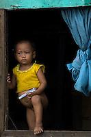 Slum area Manila from my Car Window, Philippines