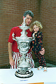 Blackpool FC Open Day August 1994,Lancashire Cup trophy.Tony Parr......© Phill Heywood.tel 07806 775649