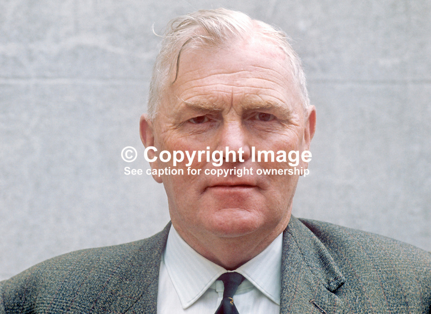 Verdun Wright, candidate, Mid-Ulster, Ulster Unionist Party, N Ireland Assembly Election, June, 1973, 197306100439a<br />