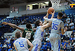 January 20, 2016 - Colorado Springs, Colorado, U.S. -  Air Force forward, Joe Tuss #11, grabs a rebound during an NCAA basketball game between the Colorado State University Rams and the Air Force Academy Falcons at Clune Arena, United States Air Force Academy, Colorado Springs, Colorado.  Colorado State defeats Air Force 83-79.