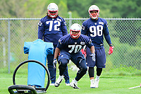 June 7, 2017: New England Patriots defensive tackle Adam Butler (70) works with a tackle dummy at the New England Patriots mini camp held on the practice field at Gillette Stadium, in Foxborough, Massachusetts. Eric Canha/CSM