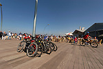 Israel, Tel Aviv-Yafo. Cycling at the Port