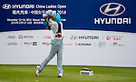 Panpan Yan of China in action during the Hyundai China Ladies Open 2014 on December 12 2014, in Shenzhen, China. Photo by Li Man Yuen / Power Sport Images