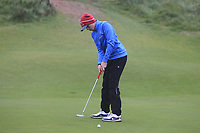 Brandon St.John (Portmarnock) on the 12th green during Round 2 of the Ulster Boys Championship at Portrush Golf Club, Portrush, Co. Antrim on the Valley course on Wednesday 31st Oct 2018.<br /> Picture:  Thos Caffrey / www.golffile.ie<br /> <br /> All photo usage must carry mandatory copyright credit (&copy; Golffile | Thos Caffrey)