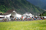 The peleton climb during Stage 14 of the 2018 Giro d'Italia, running 186km from San Vito al Tagliamento to Monte Zoncolan features Europe's hardest climb, Italy. 19th May 2018.<br /> Picture: LaPresse/Fabio Ferrari | Cyclefile<br /> <br /> <br /> All photos usage must carry mandatory copyright credit (&copy; Cyclefile | LaPresse/Fabio Ferrari)