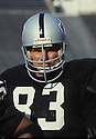 Los Angeles Raiders Ted Hendricks (83), portrait from the 1982 season. Ted Hendricks was inducted to the Pro Football Hall of Fame in 1990.