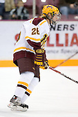 Jay Barriball (University of Minnesota - Prior Lake, MN) warms up. The University of Minnesota Golden Gophers defeated the Michigan State University Spartans 5-4 on Friday, November 24, 2006 at Mariucci Arena in Minneapolis, Minnesota, as part of the College Hockey Showcase.