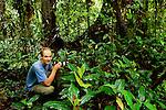 Sebastian Kennerknecht in lowland rainforest, Tawau Hills Park, Sabah, Borneo, Malaysia
