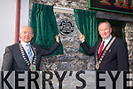 Tralee Mayor Jim Finucane and Mayor of Killarney Municipal Authority John Joe Culloty  unveiled the PLAQUE to commemorate where Monsignor Hugh O'Flaherty spent a period of his childhood years, on the site which is now The Huddle Bar on Saturday