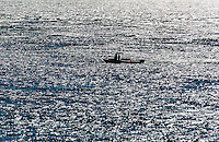 Lobster boat checking traps, Cape Cod, Massachusetts, USA