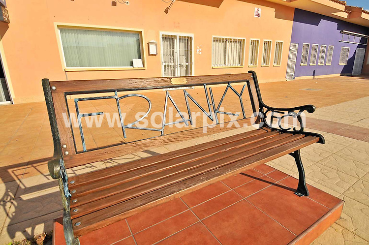 **ALL ROUND PICTURES FROM SOLARPIX.COM**                                             **WORLDWIDE SYNDICATION RIGHTS**                                                                                     Caption: bench outside Flannagans bar, formerly managed by lottery winner Laurence Candlish, dedicated to the father of Laurence - Frank Candlish, who was found hanged in July 2009 in a villa nearby - in Gran Alacant, Alicante, Spain. 21 January 2011.FULL STORY BY TOM WORDEN +34 680 152 448                                                                         This pic: Flannagans bar                                                                                             JOB REF: 12691 BHY       DATE: 21_01_2011                                                           **MUST CREDIT SOLARPIX.COM OR DOUBLE FEE WILL BE CHARGED**                                                                      **MUST AGREE FEE BEFORE ONLINE USAGE**                               **CALL US ON: +34 952 811 768 or LOW RATE FROM UK 0844 617 7637**