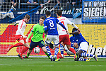 16.03.2019, VELTINS Arena, Gelsenkirchen, Deutschland, GER, 1. FBL, FC Schalke 04 vs. RB Leipzig<br /> <br /> DFL REGULATIONS PROHIBIT ANY USE OF PHOTOGRAPHS AS IMAGE SEQUENCES AND/OR QUASI-VIDEO.<br /> <br /> im Bild Timo Werner (#11 Leipzig) trifft zum 0-1 Leipzig<br /> <br /> Foto © nordphoto / Kurth