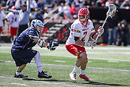 College Park, MD - April 8, 2017: Maryland Terrapins Colin Heacock (2) looks to pass the ball during game between Penn State and Maryland at  Capital One Field at Maryland Stadium in College Park, MD.  (Photo by Elliott Brown/Media Images International)
