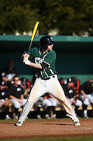 Plymouth State Panthers Mike Laflamme (1) during the first game of a doubleheader against the Edgewood Eagles on March 17, 2015 at Terry Park in Fort Myers, Florida.  Edgewood defeated Plymouth State 12-3.  (Mike Janes/Four Seam Images)
