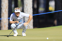 Soren Kjeldsen (DEN) on the 9th green during Saturday's Round 3 of the 2018 Turkish Airlines Open hosted by Regnum Carya Golf &amp; Spa Resort, Antalya, Turkey. 3rd November 2018.<br /> Picture: Eoin Clarke | Golffile<br /> <br /> <br /> All photos usage must carry mandatory copyright credit (&copy; Golffile | Eoin Clarke)