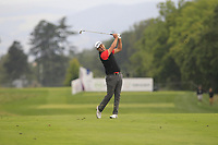 Simon Khan (ENG) on the 5th fairway during Round 3 of the D+D Real Czech Masters at the Albatross Golf Resort, Prague, Czech Rep. 02/09/2017<br /> Picture: Golffile | Thos Caffrey<br /> <br /> <br /> All photo usage must carry mandatory copyright credit     (&copy; Golffile | Thos Caffrey)