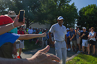Tiger Woods (USA) approaches 17 during 3rd round of the World Golf Championships - Bridgestone Invitational, at the Firestone Country Club, Akron, Ohio. 8/4/2018.<br /> Picture: Golffile | Ken Murray<br /> <br /> <br /> All photo usage must carry mandatory copyright credit (© Golffile | Ken Murray)