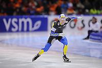 SCHAATSEN: HEERENVEEN: IJsstadion Thialf, 11-01-2013, Seizoen 2012-2013, Essent ISU EK allround, 500m Men, David Andersson (SWE), ©foto Martin de Jong