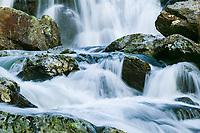 Upper Spivey Falls in late winter flow